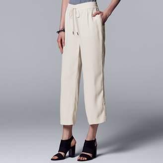 Vera Wang Women's Simply Vera Wide-Leg Crop Pants