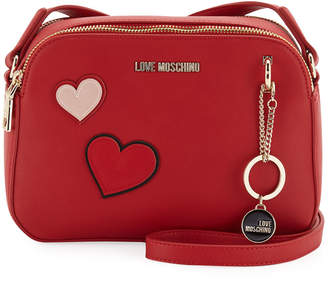 Love Moschino Clutch Bag with Hearts & Girl Charm