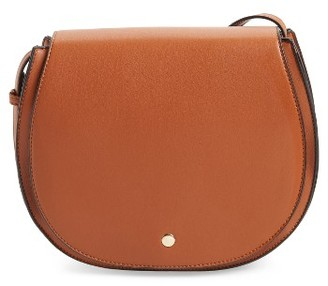 Sole Society Jules Two-Tone Faux Leather Saddlebag - Brown $44.95 thestylecure.com