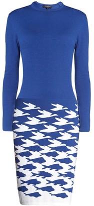 Rumour London Sea & Sky Blue Knitted Jacquard Dress