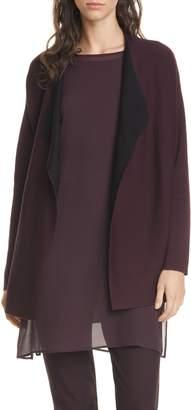 Eileen Fisher Reversible Silk Blend Cardigan