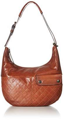 Frye Samantha Quilted Leather Zip Hobo Bag