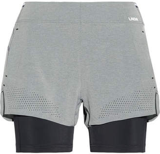 LNDR - Run Double Layered Stretch-jersey Shorts - Gray