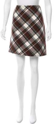 Aquilano Rimondi Aquilano.Rimondi Wool Plaid Skirt