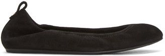 Lanvin Black Suede Classic Ballerina Flats $550 thestylecure.com