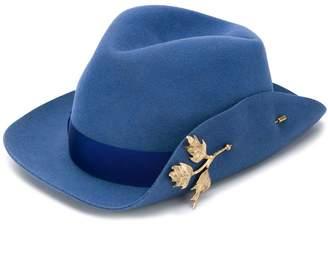 Borsalino pin embellished Fedora hat