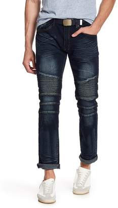 "X-Ray XRAY Moto Straight Leg Jeans - 30-32\"" Inseam"