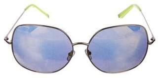 Matthew Williamson Mirrored Oversize Sunglasses