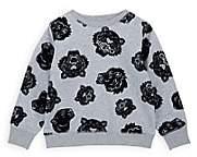 Kenzo Kids' Tiger-Print Cotton-Blend Sweatshirt-Gray