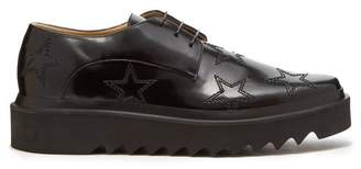 Stella Mccartney - Lewis Star Stitched Brogues - Mens - Black