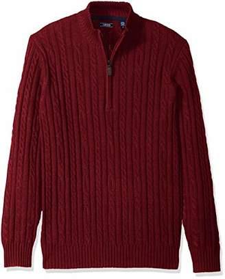 Izod Men's Cable Solid 1/4 Zip Sweater