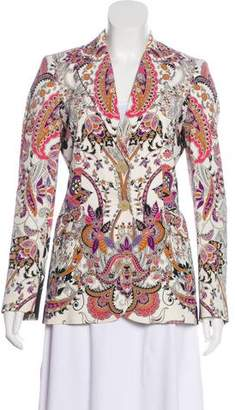 Etro Printed Notch-Lapel Blazer