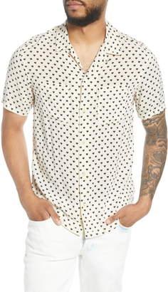 AllSaints Valentine Print Short Sleeve Button-Up Camp Shirt
