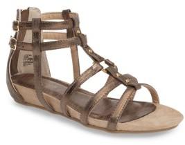 Girl's Kenneth Cole New York Lost Strike Gladiator Sandal $48 thestylecure.com