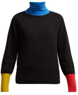 La Fetiche - Rudi Wool Roll Neck Sweater - Womens - Black Multi