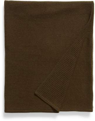 Nordstrom Signature Ribbed Cashmere Throw