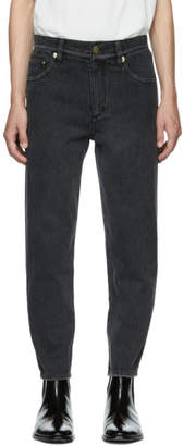 3.1 Phillip Lim Black Tapered Cropped Jeans