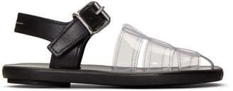 MM6 MAISON MARGIELA Black PVC Pool Slides