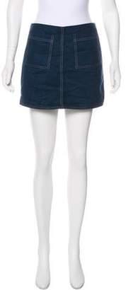 Staud Faux Suede Mini Skirt