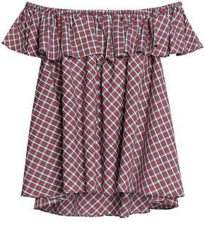 Petersyn Layered Checked Cotton Top