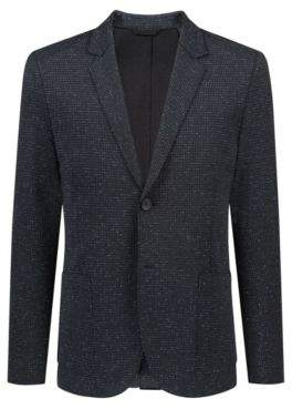 HUGO Boss Extra-slim-fit stretch-jersey blazer raw edges 42R Black