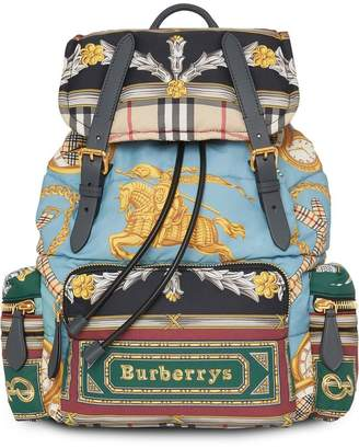 Burberry The Medium Rucksack in Archive Scarf Print