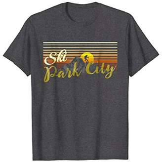 Mens Ski Park City t shirt vintage style skiing apparel Large