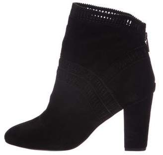 Isolda Cut-Out Suede Ankle Boots
