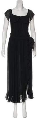 Saint Laurent Ruffled Silk Dress