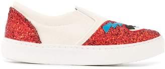Chiara Ferragni Flirting glitter slip-on sneakers