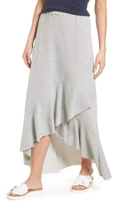 Caslon High/Low Cotton Blend Utility Skirt