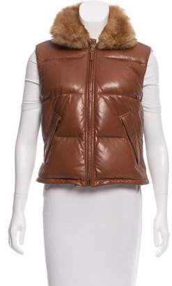 Ralph Lauren Down Filled Leather Vest