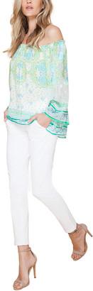 Hale Bob Off-The-Shoulder Silk-Blend Top
