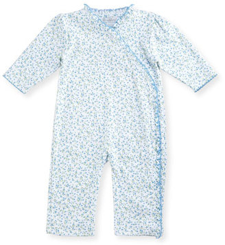 Kissy Kissy Spring Meadow Printed Pima Coverall, Blue, Size 3-24 Months $44 thestylecure.com