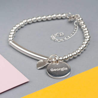 Oh So Cherished Personalised Sterling Silver 925 Lobster Clasp Bracelet
