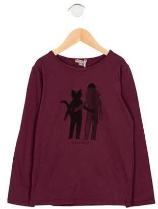 Emile et Ida Girls' Printed Long Sleeve Top w/ Tags