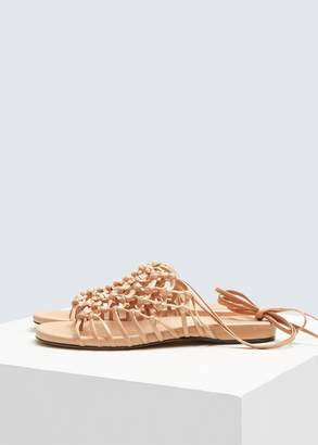 Alumnae Knotted Ankle Wrap Sandal