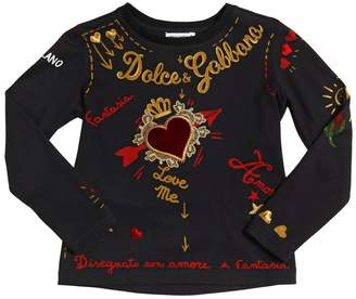 Dolce & Gabbana Tattoo Cotton Jersey T-Shirt