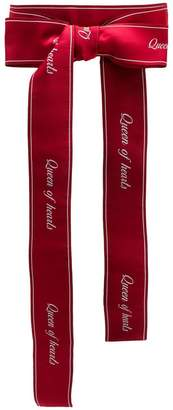 Dolce & Gabbana Queen of hearts printed belt