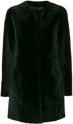 Drome furry buttoned up coat
