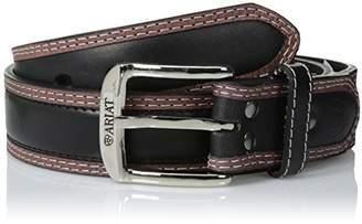 Ariat Men's Point Billet Black Tan Belt
