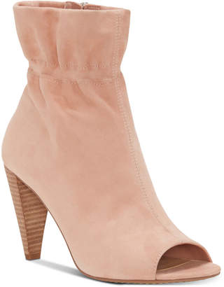 Vince Camuto Addiena Smocked Cone-Heel Booties Women's Shoes