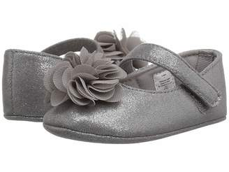 Baby Deer Soft Sole Shimmer Mary Jane with Flower (Infant)