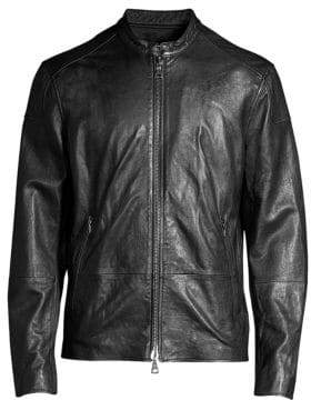John Varvatos Zip Leather Jacket