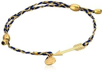 Alex and Ani Precious Threads Arrow Soul Blue Braid 14k Bracelet