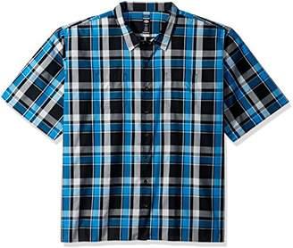 Dickies Men's Yarn Dyed Short Sleeve Camp Shirt 6X Big-Tall