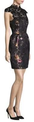 Trina Turk Lace Floral Jacquard Dress