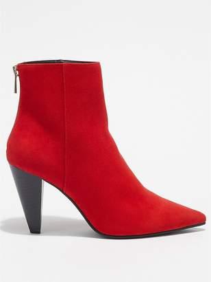 Miss Selfridge Cone Heel Boot - Red