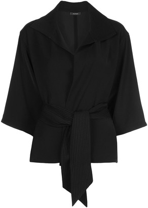 Natori relaxed-fit wrap-style top