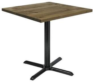 "LOFT Kfi KFI Urban 36"" Square Vintage Wood Breakroom Table, Natural"